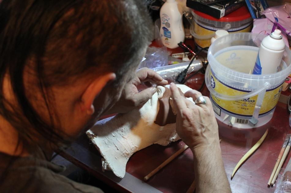 sculpture  prothèse zombie