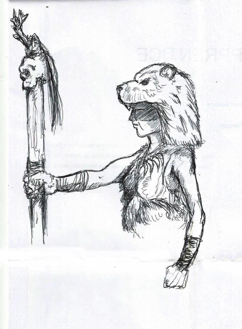 Conan Fan film - Croquis - sorcière Picte